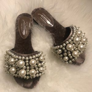 1cfecf099c1 Free People Shoes - Jeffrey Campbell x Free People Pixie Pearl Slides